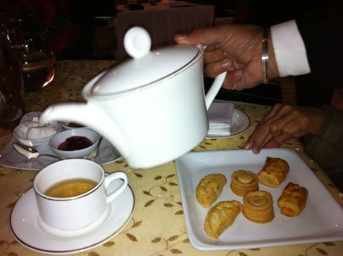 Tea and shot glasses